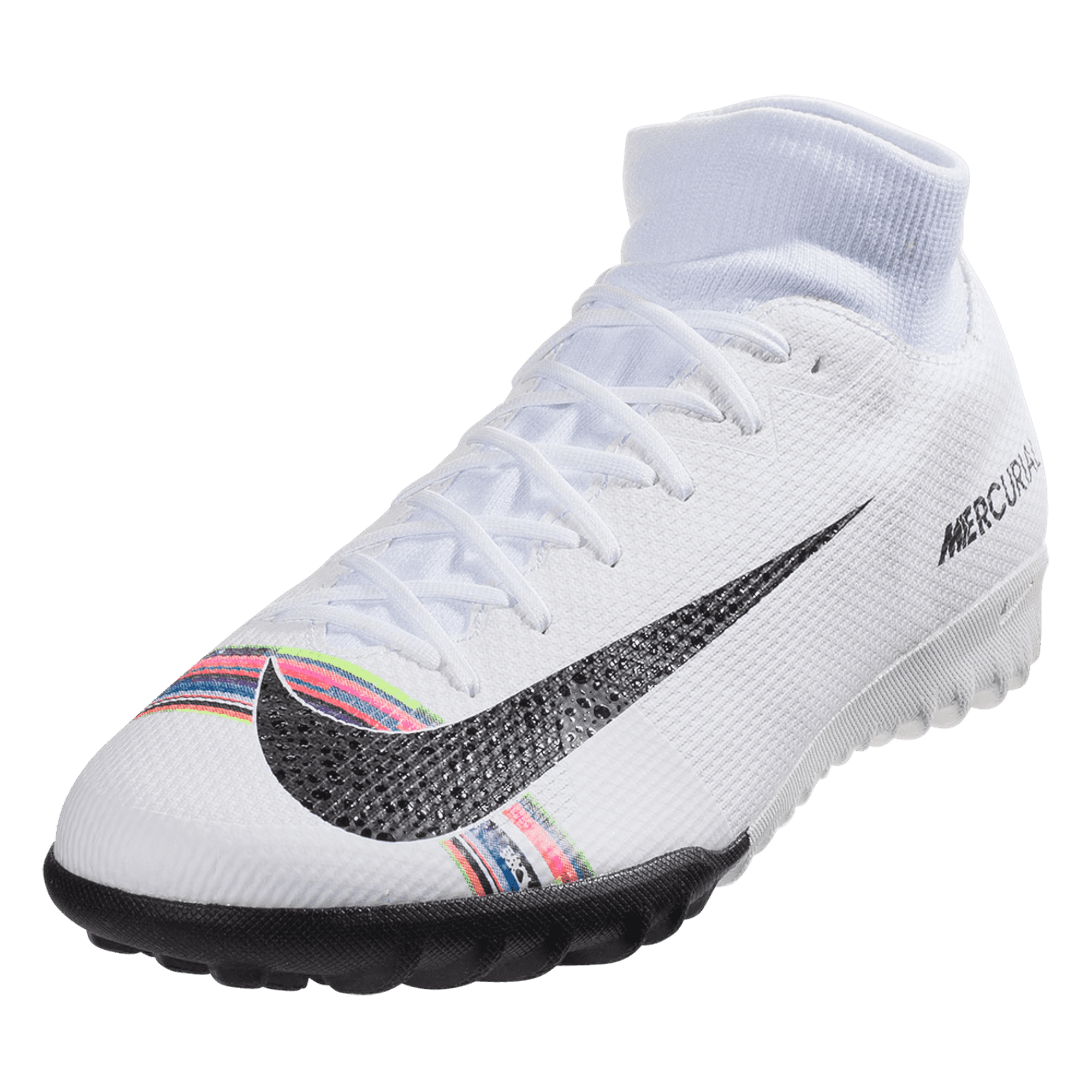 best service aa5ce 3dd54 Nike Mercurial Superfly X VI Academy SE TF Artificial Turf Soccer Shoe -  Platinum / Black / White