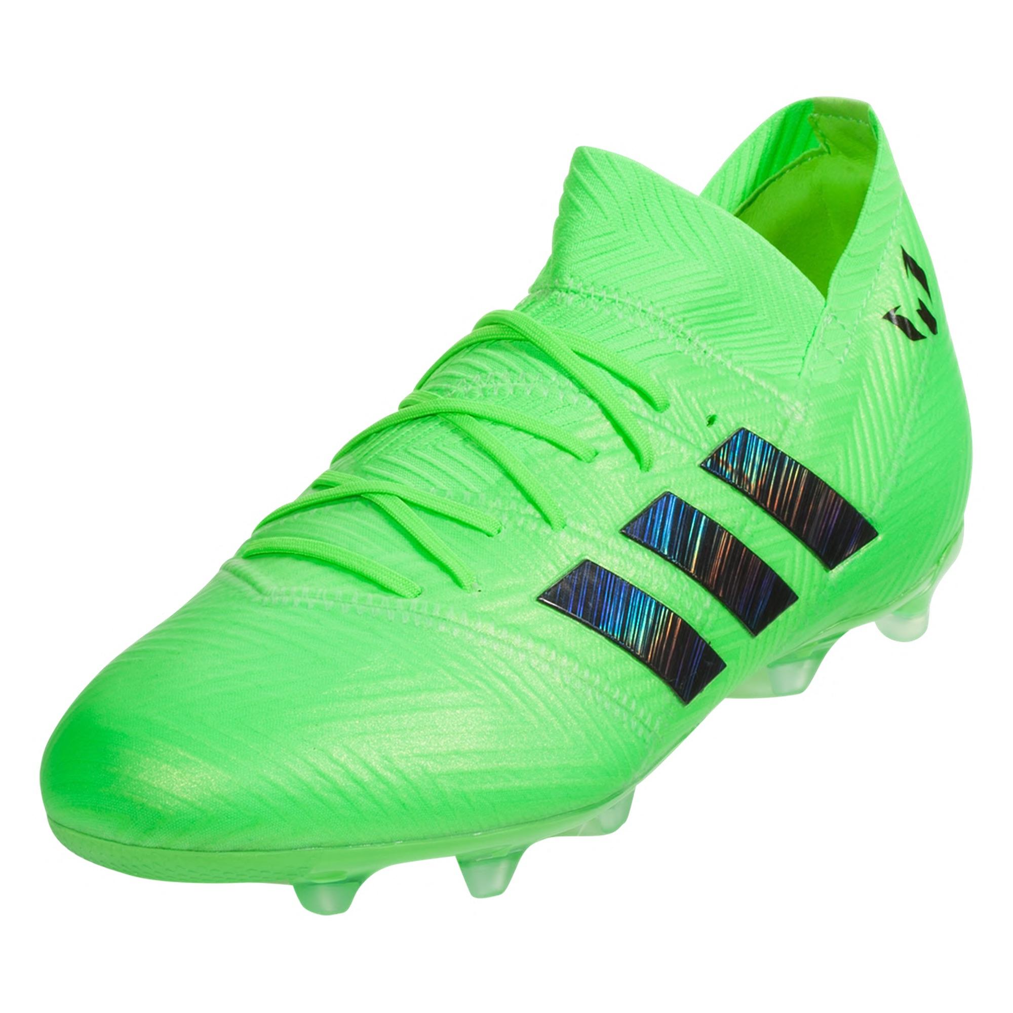 c1dcf582d Adidas Nemeziz Messi 18.1 FG Soccer Cleats – Solar Green Core Black Solar  Green