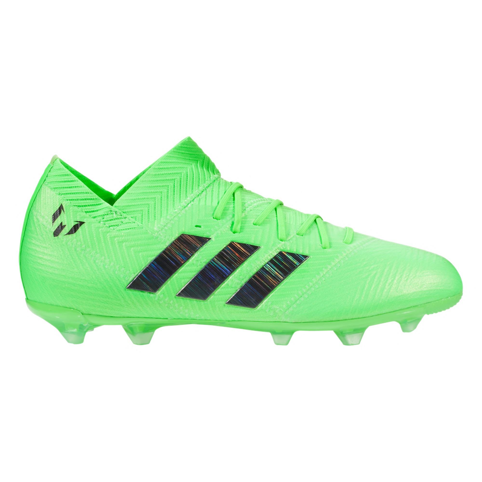 20c0abb46 Home   Brand   Adidas   Adidas Nemeziz Messi 18.1 FG Soccer Cleats – Solar  Green Core Black Solar Green