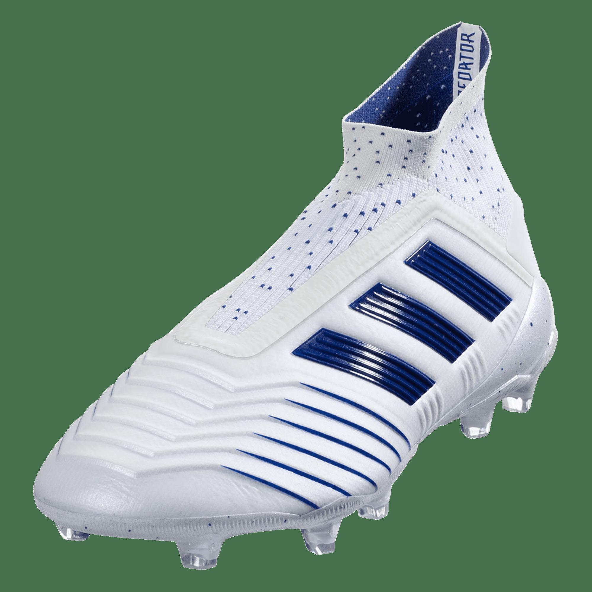 6c071353cd3 adidas Predator 19+ FG Firm Ground Soccer Cleat – White Blue ...