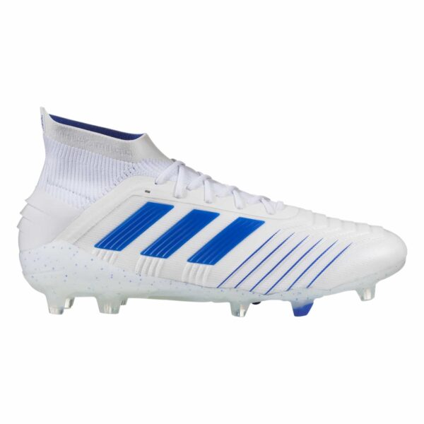 adidas Predator 19.1 FG Firm Ground Soccer Cleat - White/Blue