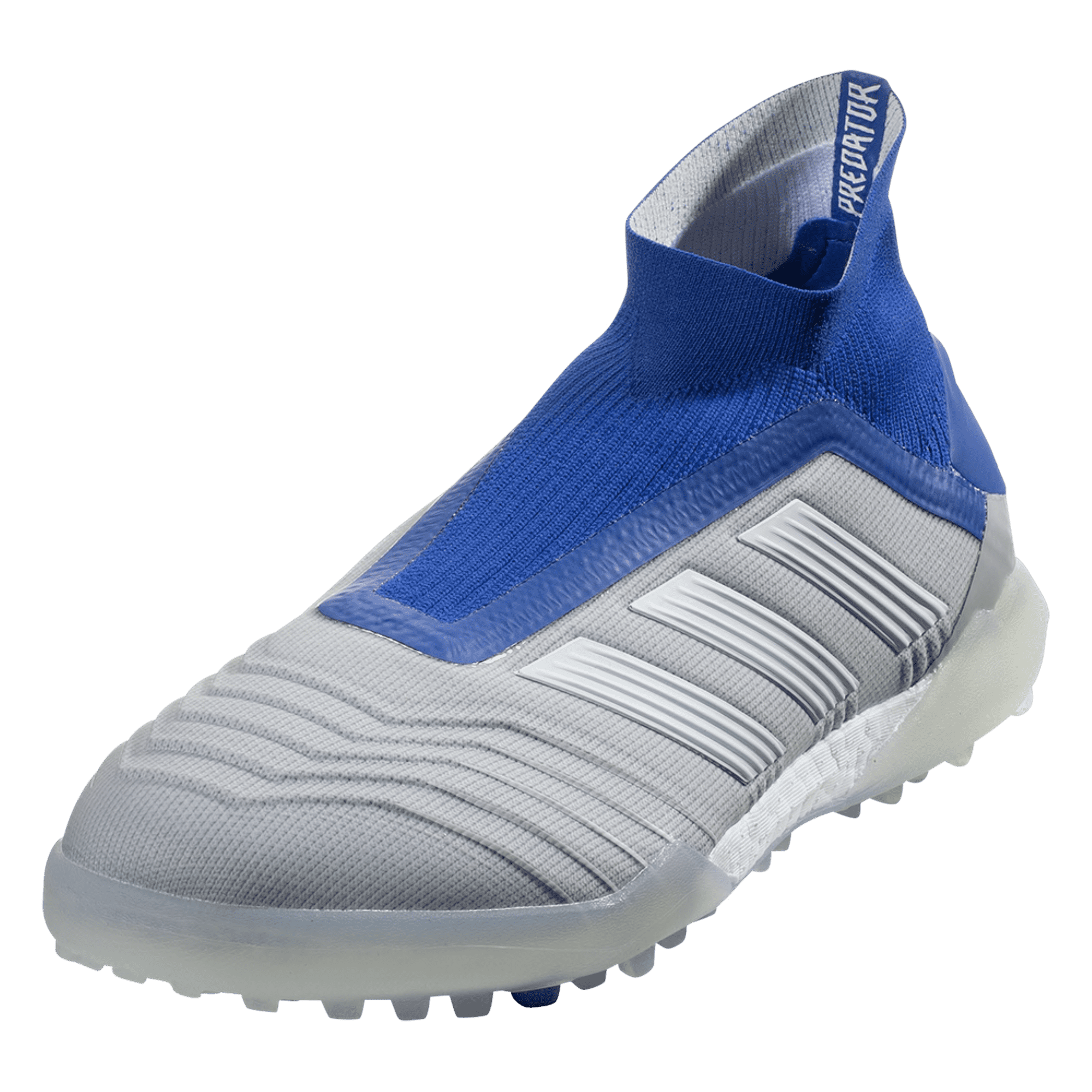 adidas Predator Tango 19+ TF Artificial Turf Soccer Shoe - Grey/White/Blue