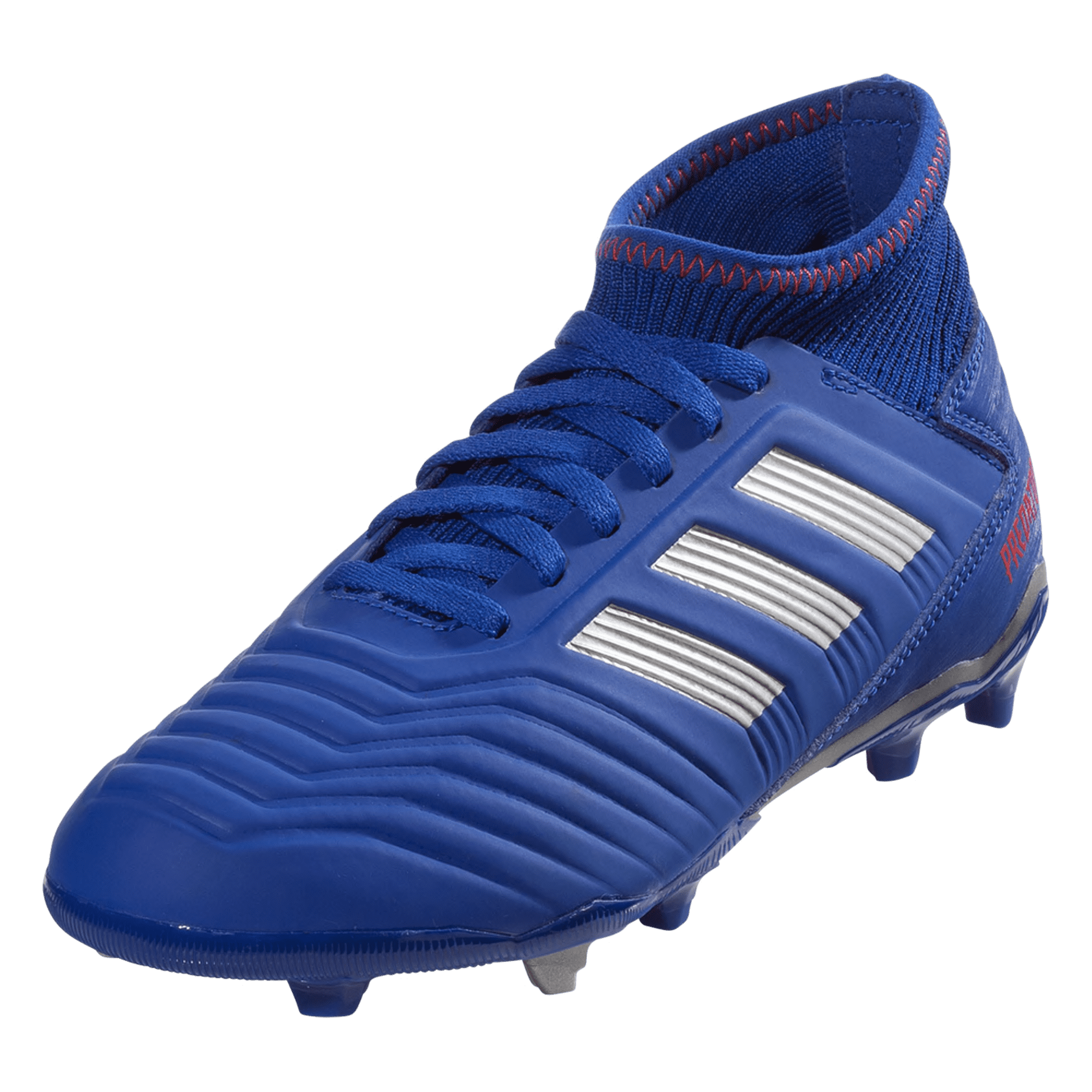 adidas Predator 19.3 FG Soccer Cleat - Blue/Silver/Red