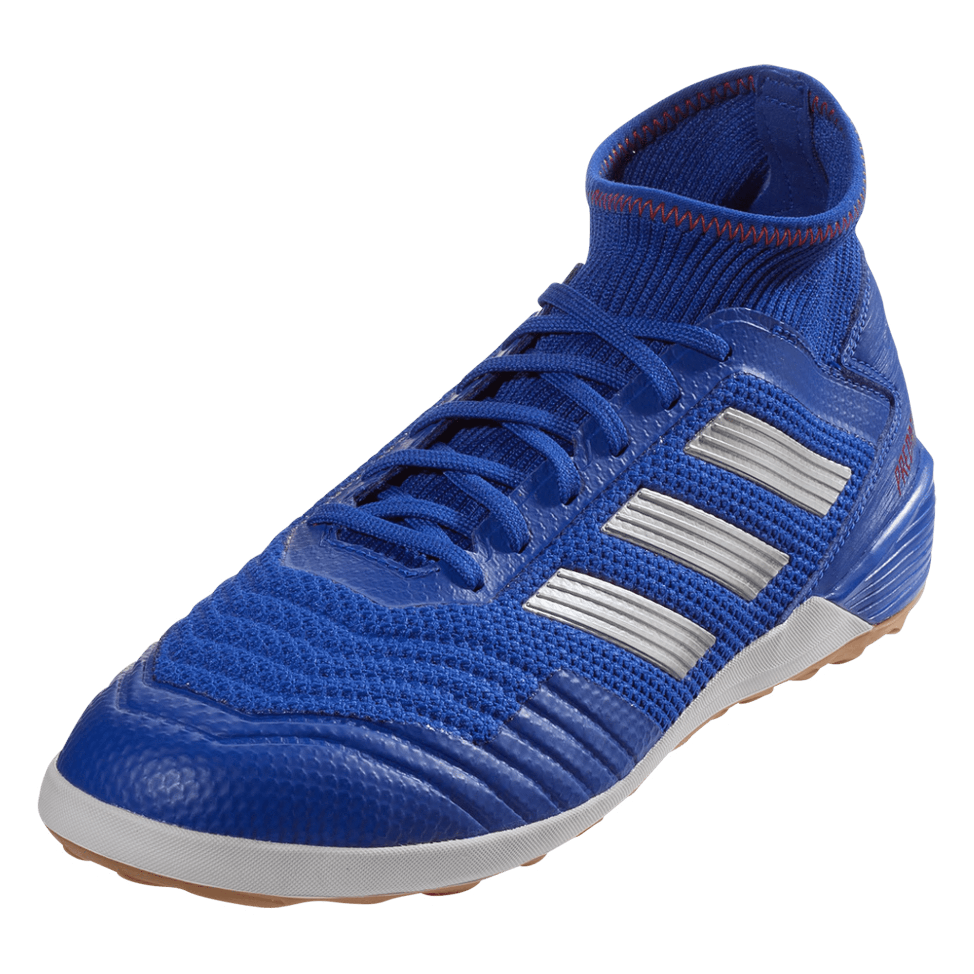 adidas Predator Tango 19.3 IN Indoor Soccer Shoe - Blue/Silver/Red