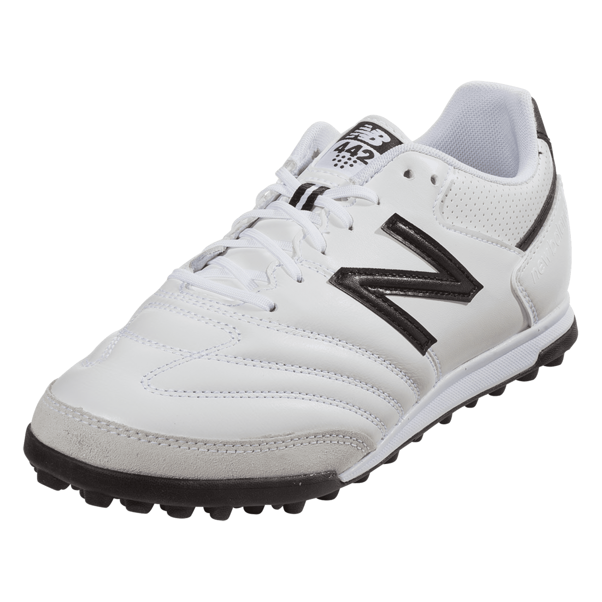 New Balance 442 Team TF Wide Artificial Turf Shoe - White/Black