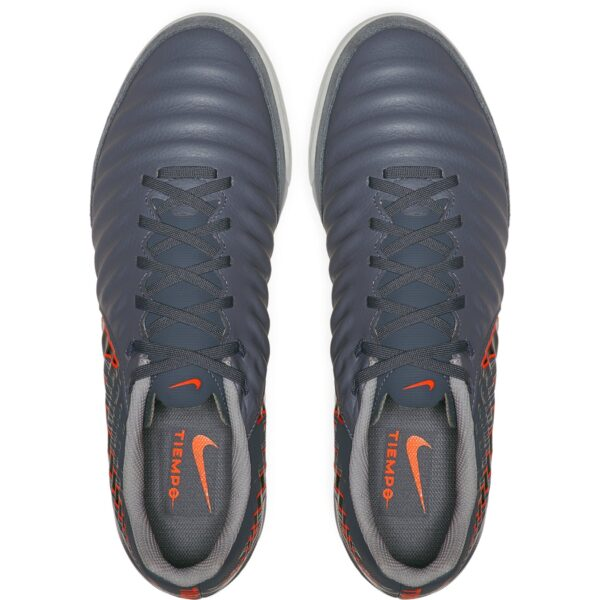 Nike Tiempo Legend X VII Academy IC Indoor Soccer Shoes - Armory Blue / Black / Hyper Crimson / Metallic Silver / Wolf Grey