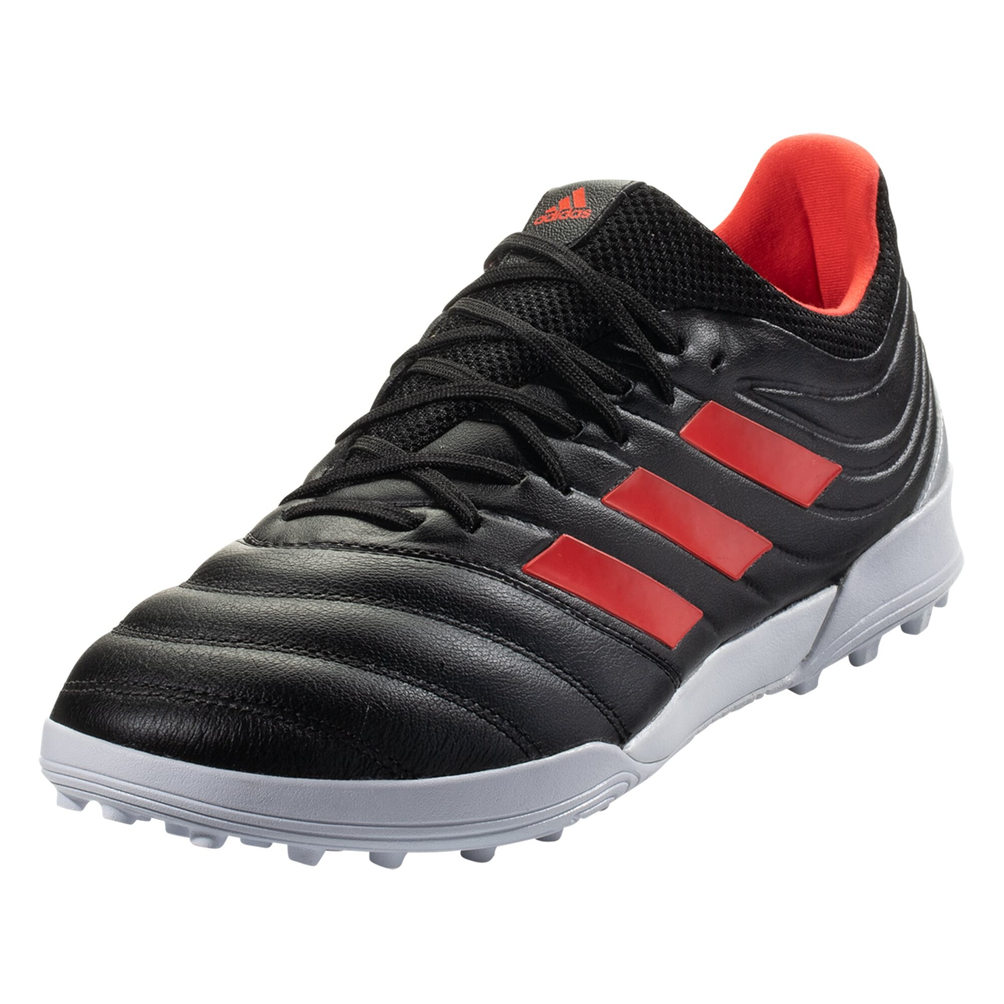 adidas Copa 19.3 TF Artificial Turf Soccer Shoe - Core Black / Hi-Res Red / Metallic Silver
