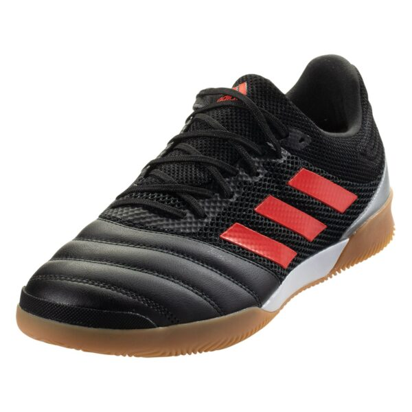adidas Copa 19.3 IN Sala Indoor Soccer Shoe - Core Black / Hi-Res Red / Metallic Silver