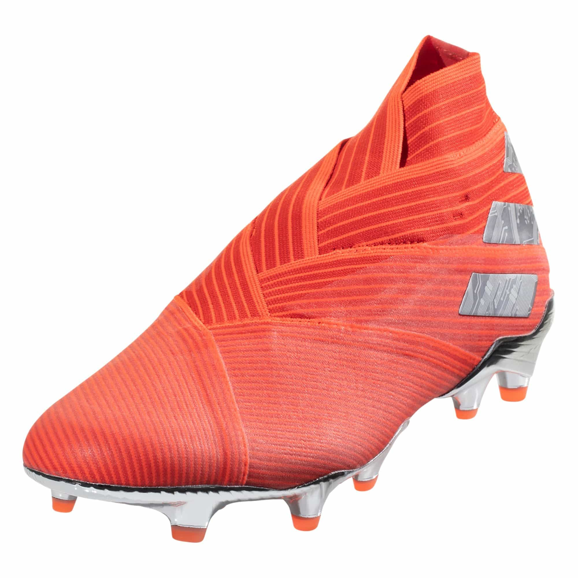adidas Nemeziz 19+ FG Soccer Cleat - Active Red / Metallic Silver / Solar Red