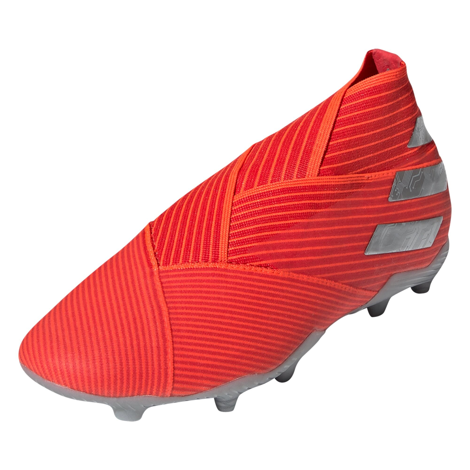 adidas Nemeziz 19+ Junior FG Soccer Cleat - Active Red / Metallic Silver / Solar Red