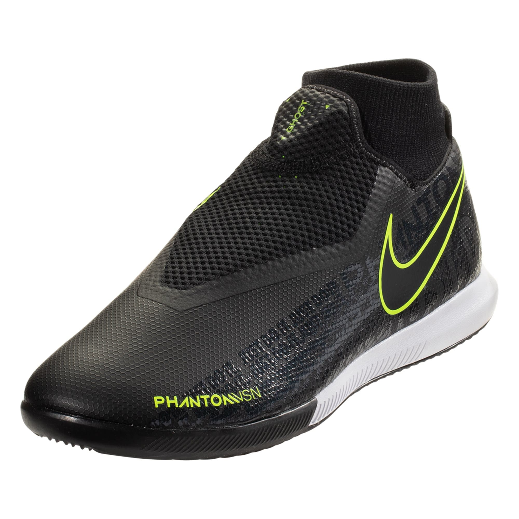 Nike Phantom Vision Academy DF IC Indoor Soccer Shoe - Black/Black/Volt