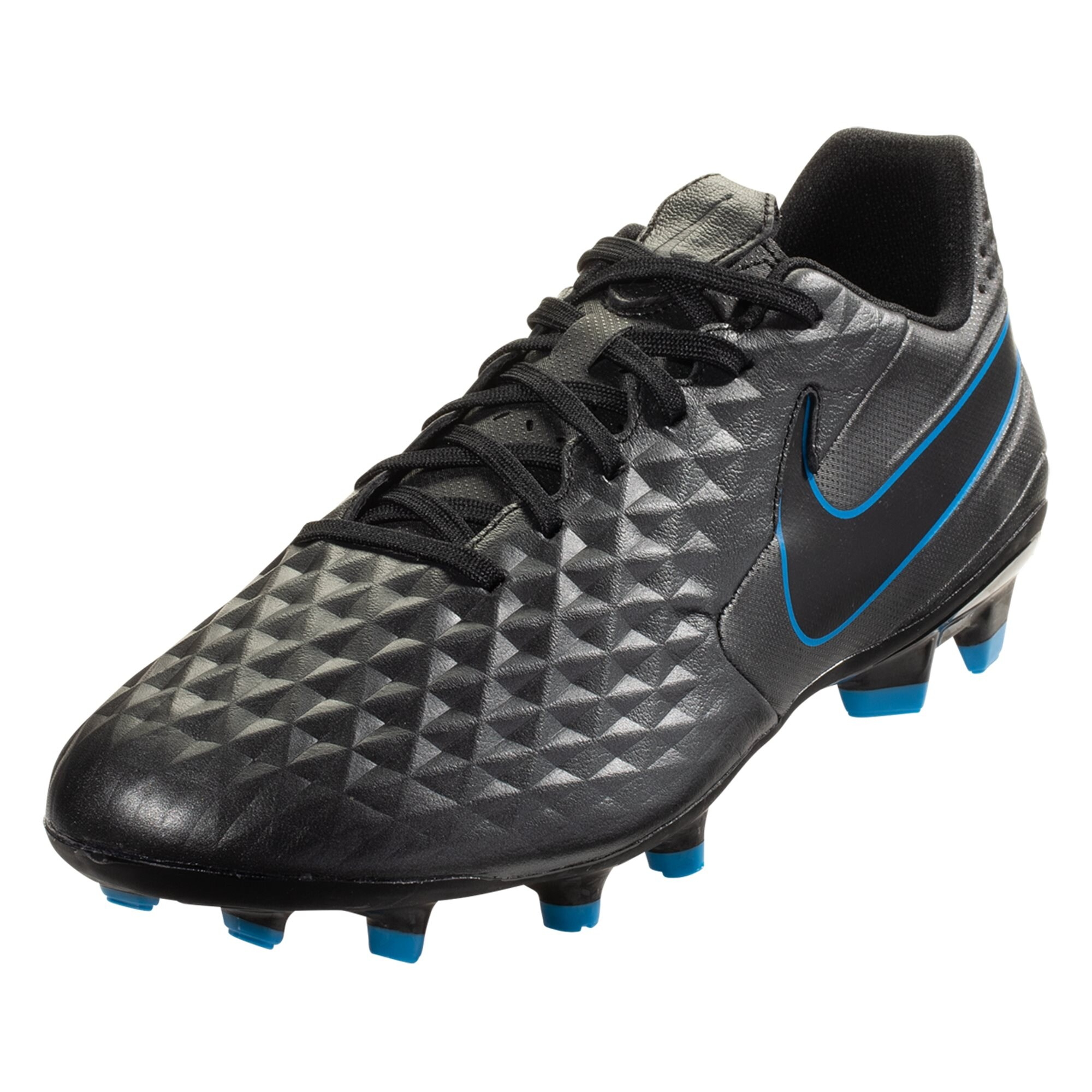 Nike Tiempo Legend 8 Academy FG Soccer Cleat - Black / Blue