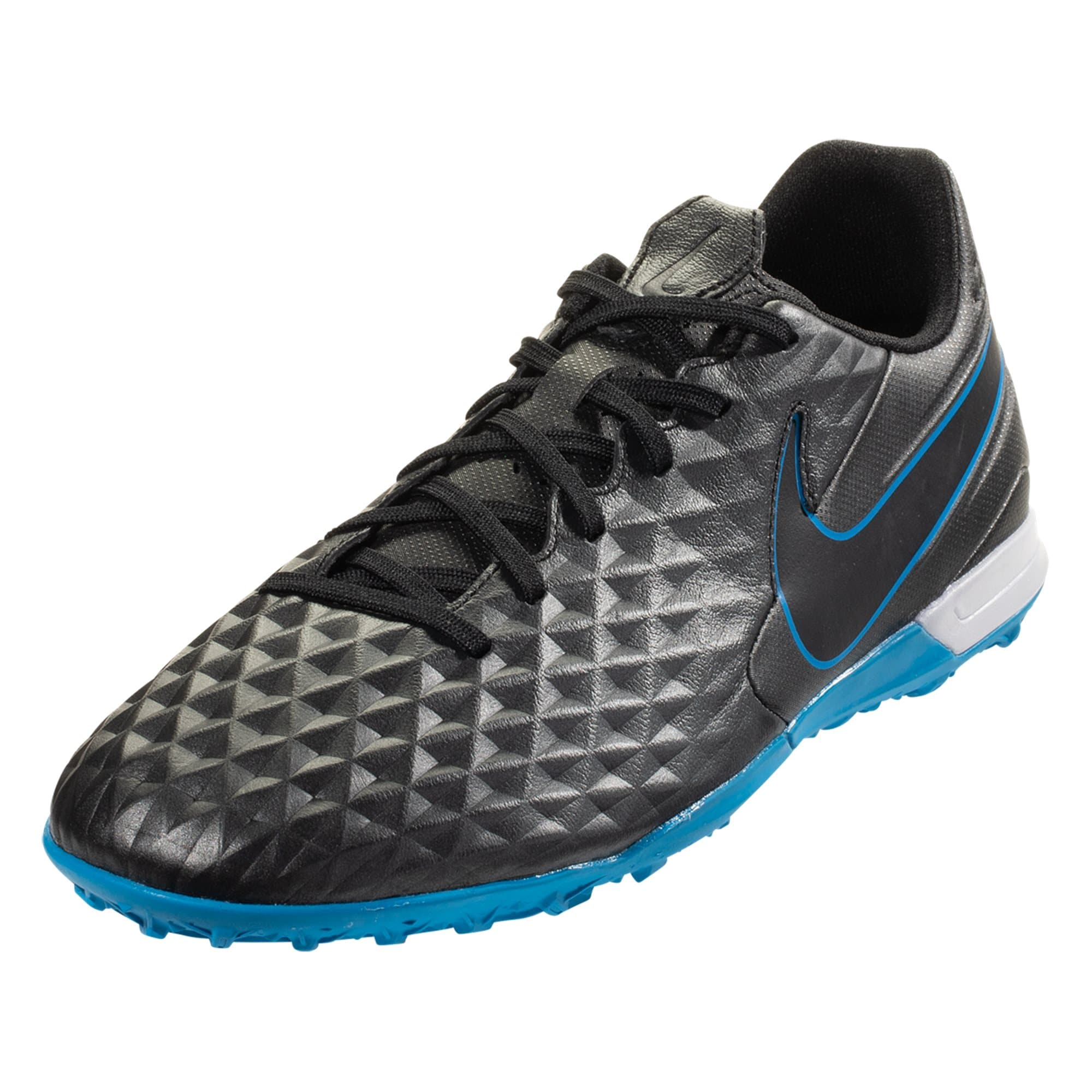 Nike Tiempo Legend 8 Pro TF Artificial Turf Shoes - Black / Blue