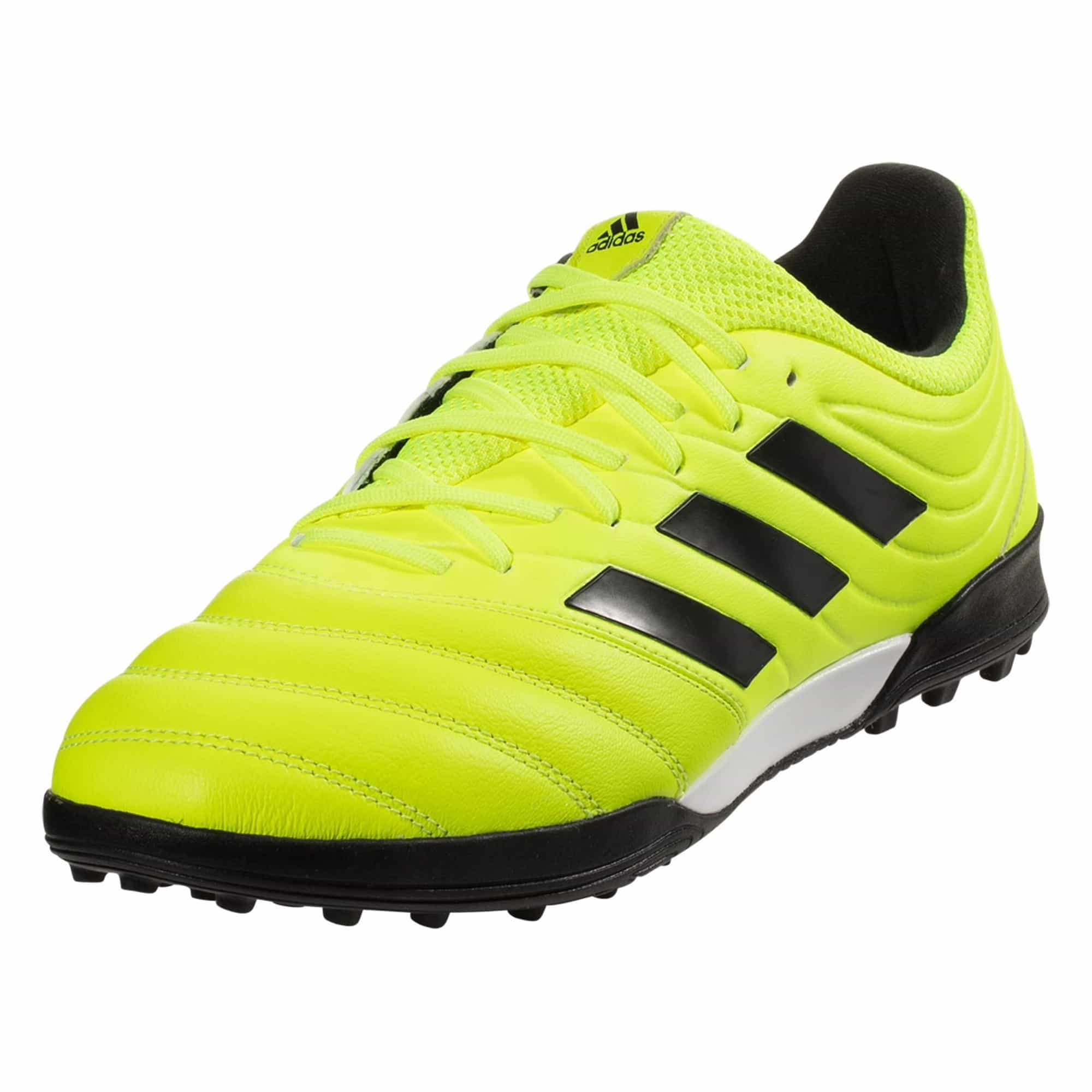 adidas Copa 19.3 TF Artificial Turf Soccer Shoe - Solar Yellow / Black / Solar Yellow