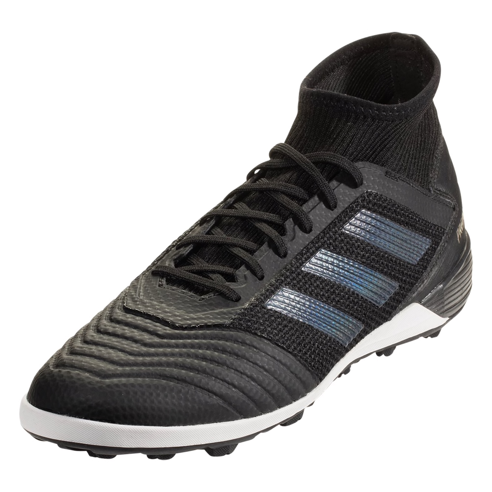 adidas Predator Tango 19.3 TF Artificial Turf Soccer Shoe - Black / Black / Gold