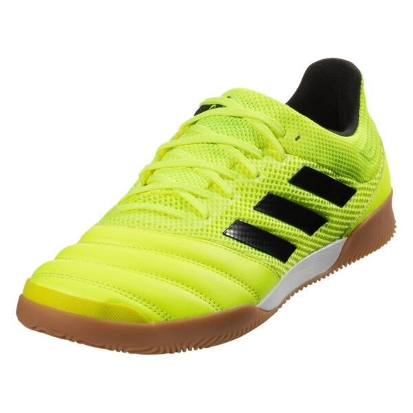 adidas Copa 19.3 IN Sala Indoor Soccer Shoe - Solar Yellow / Black / Solar Yellow