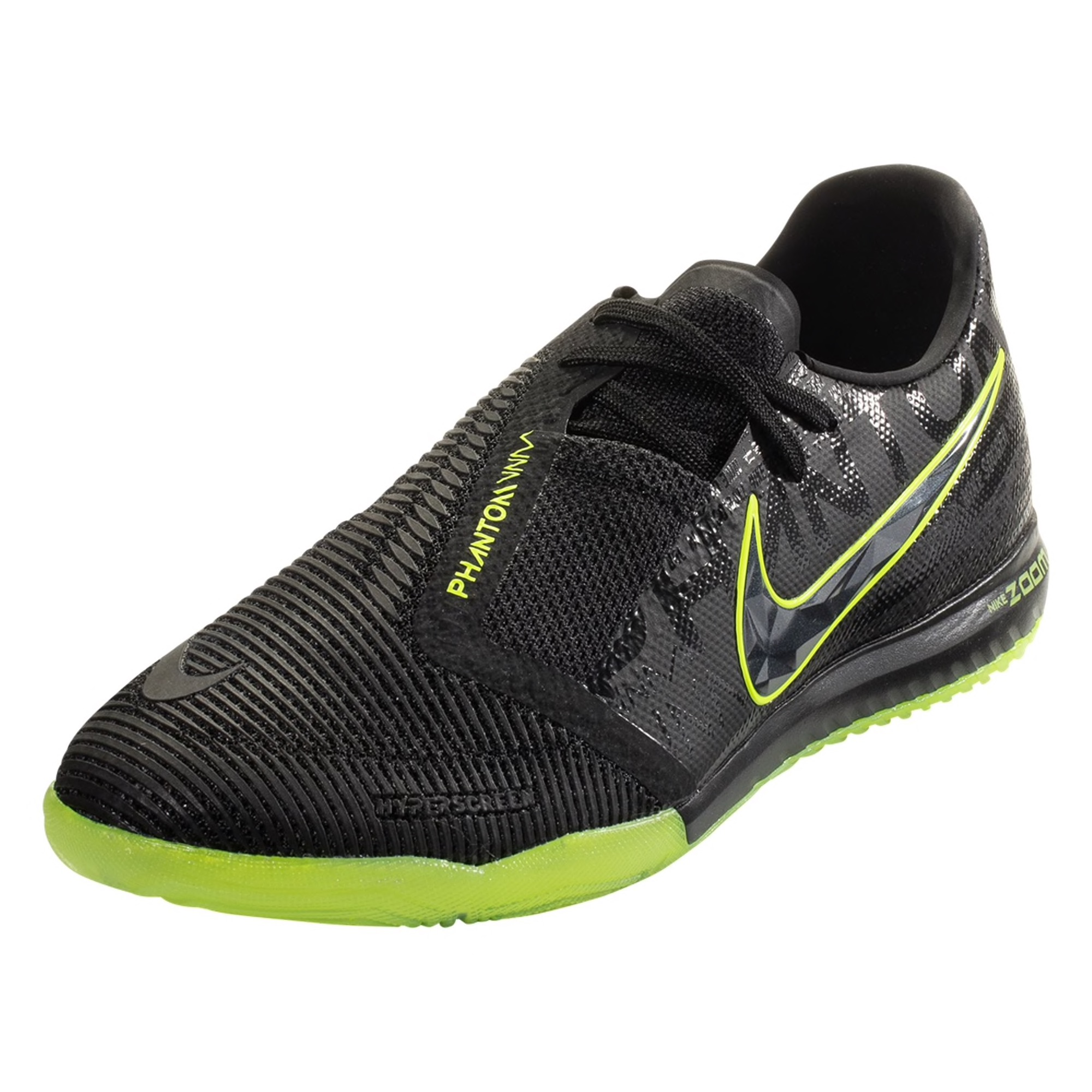 Nike Zoom Phantom Venom Pro IC Indoor Soccer Shoe - Black / Black / Volt
