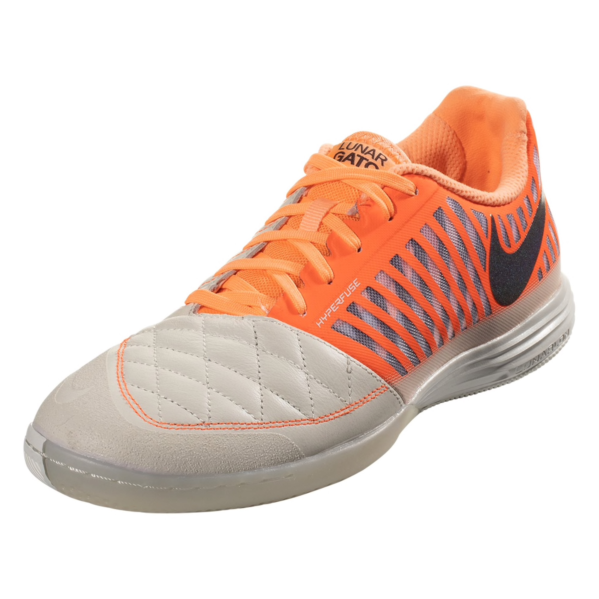 Nike Lunar Gato II Indoor Soccer Shoe - Cream / Orange