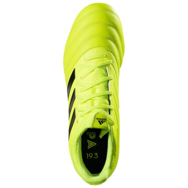 adidas Copa 19.3 FG Firm Ground Soccer Cleat - Solar Yellow / Black / Solar Yellow