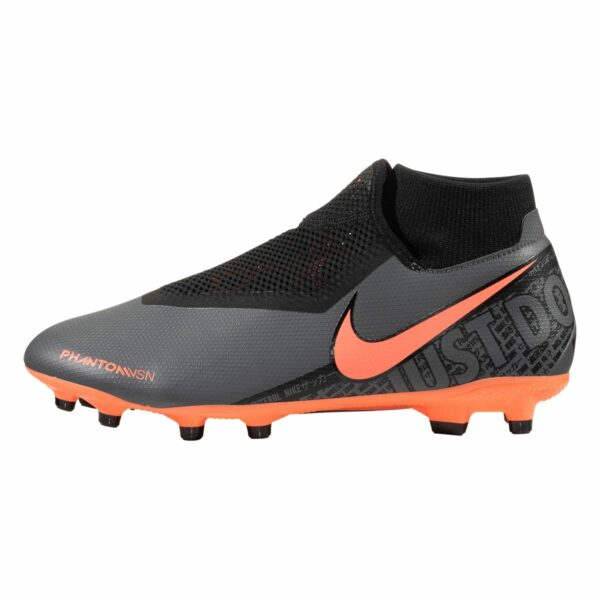 Nike Phantom Vision Academy DF FG/MG Firm Ground Soccer Cleat - Dark Grey / Bright Mango / Black