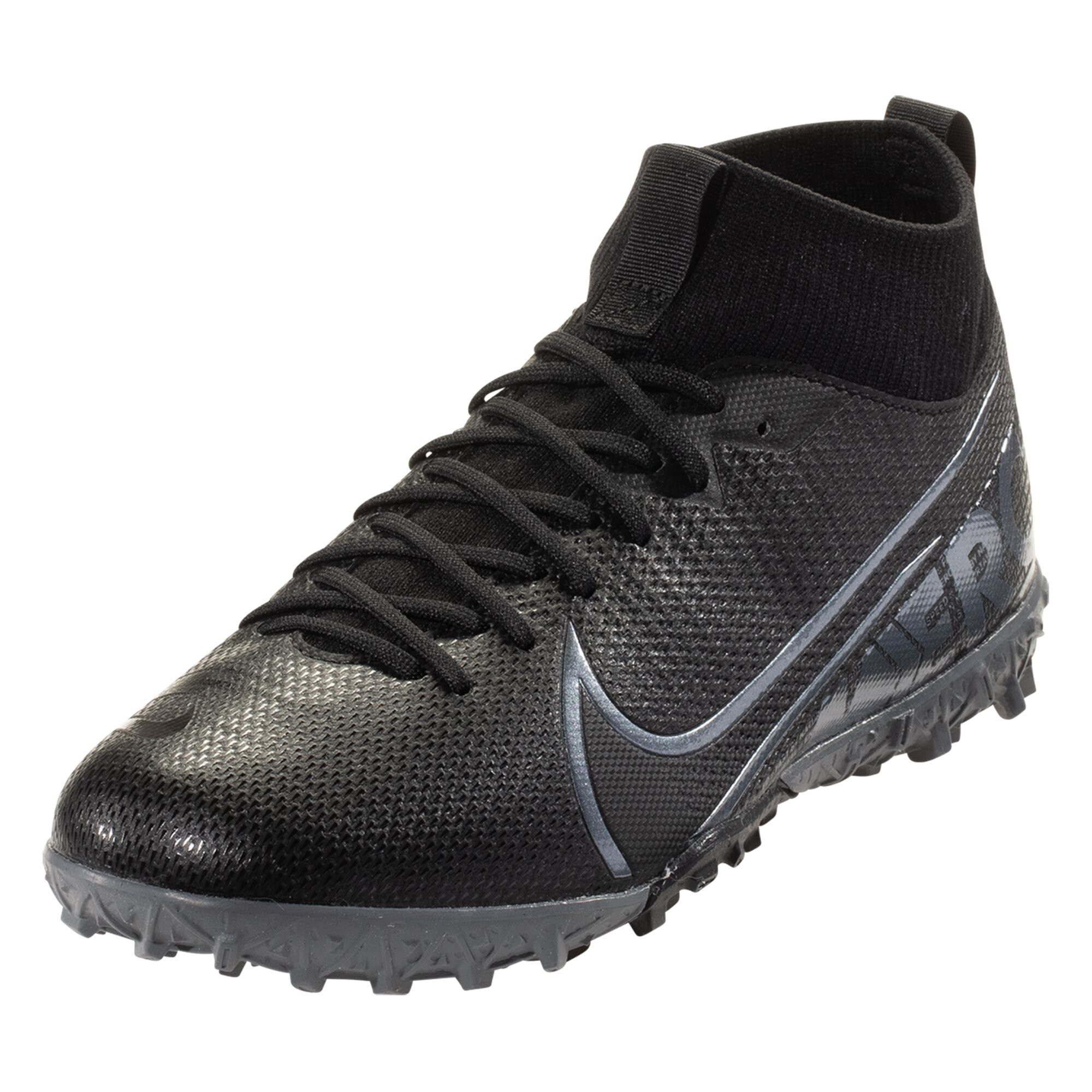 Nike Mercurial Superfly 7 Academy TF Soccer Shoe - Black / Metallic Grey / Grey