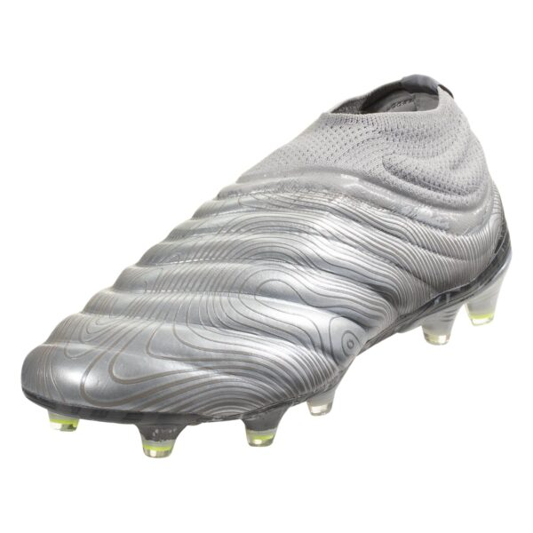 adidas Copa 20+ FG Firm Ground Soccer Cleat - Metallic Silver / Solar Yellow