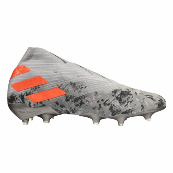 adidas Nemeziz 19+ FG Soccer Cleat - Grey / Solar Orange / Chalk White
