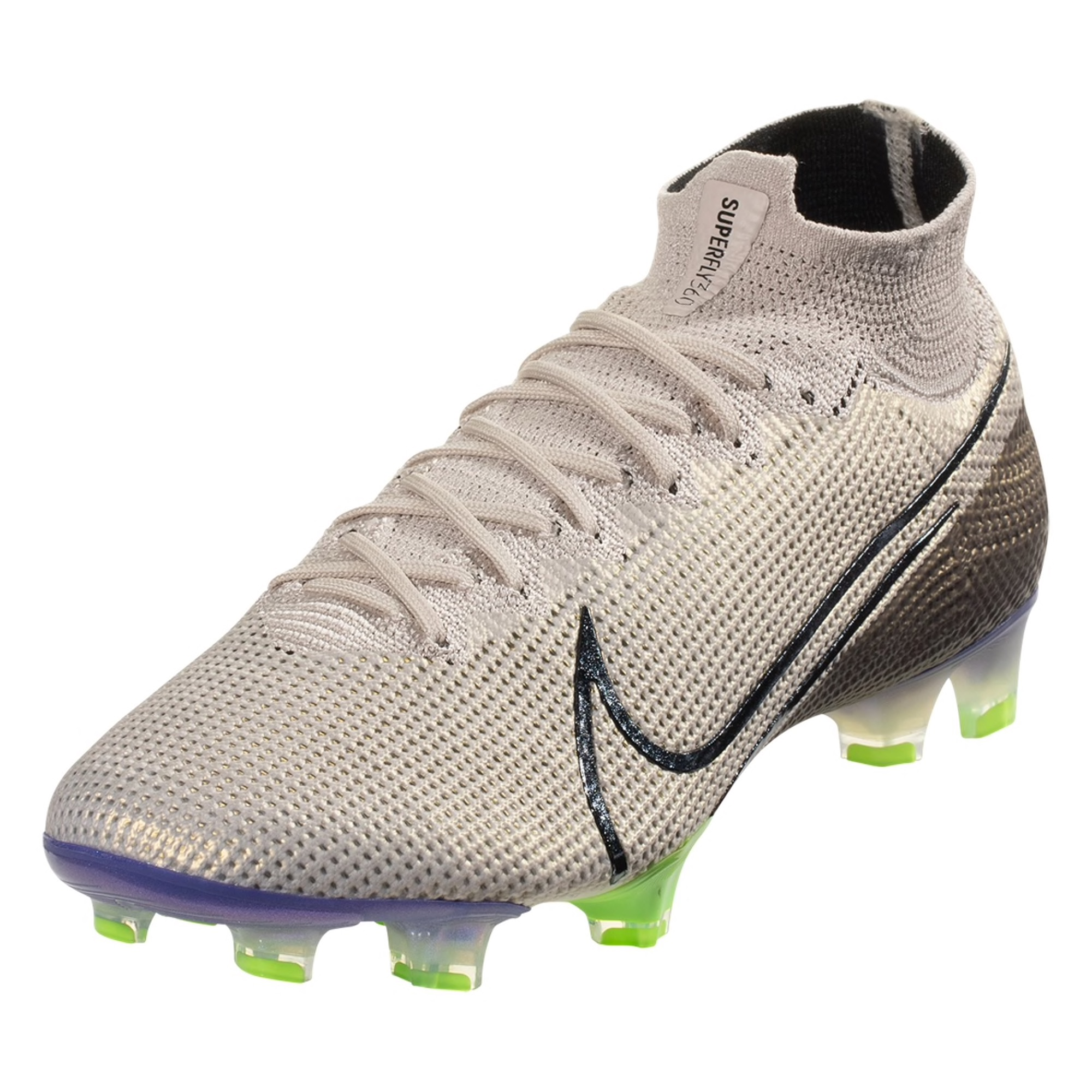 Nike Mercurial Superfly 7 Elite FG Soccer Cleat - Desert Sand / Black / Psychic Purple / Electric Green / Gunsmoke