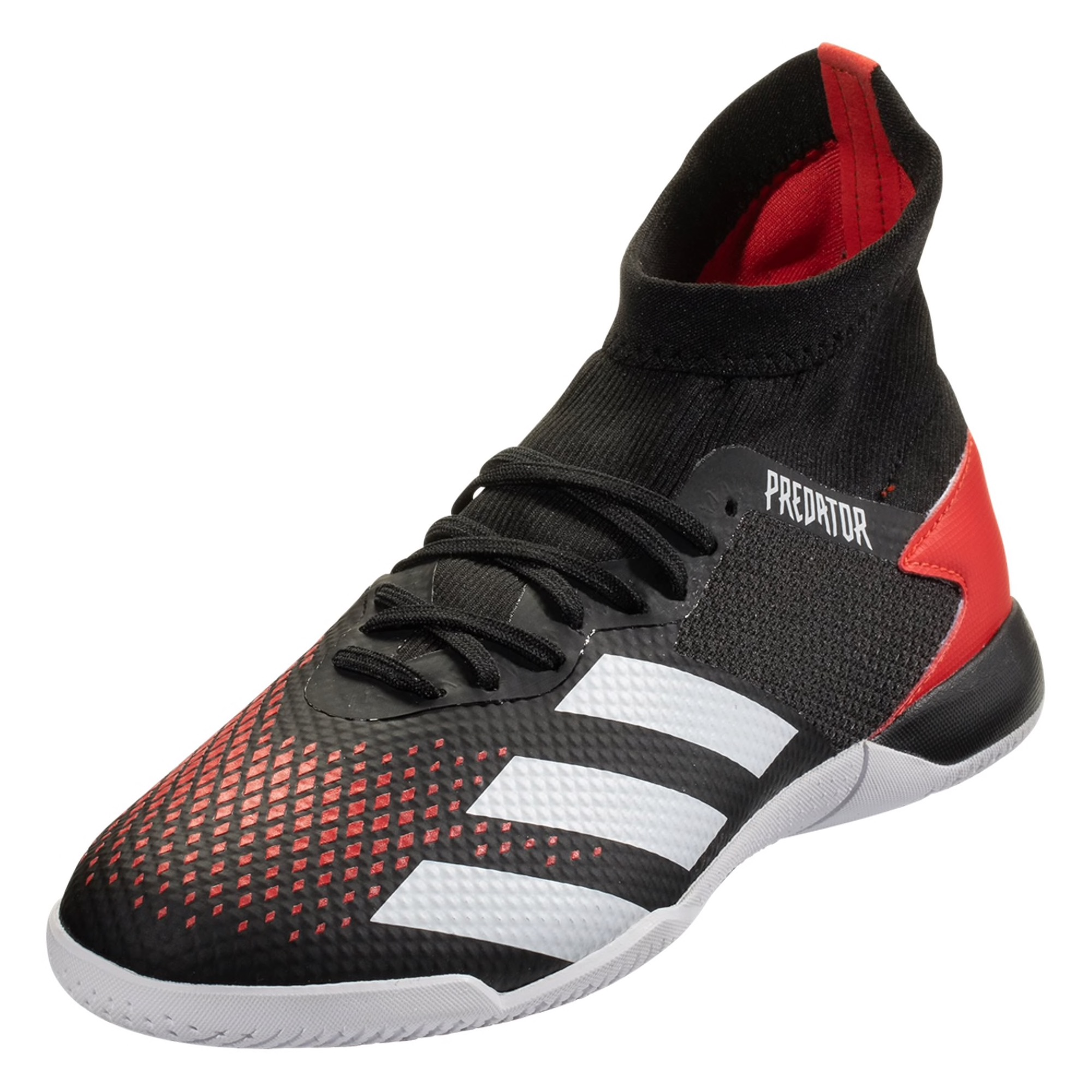 adidas Predator 20.3 IN Indoor Soccer Shoe - Red / White / Black