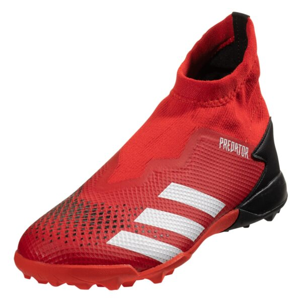 adidas Predator 20.3 Laceless TF Artificial Turf Soccer Shoe - Red / White / Black