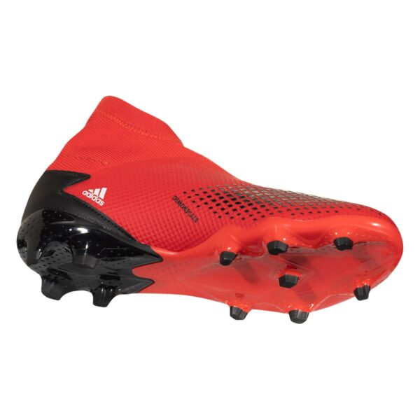 adidas Predator 20.3 Laceless FG Soccer Cleat - Red / White / Black