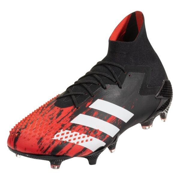 adidas Predator 20.1 FG Firm Ground Soccer Cleat - Black / White / Red