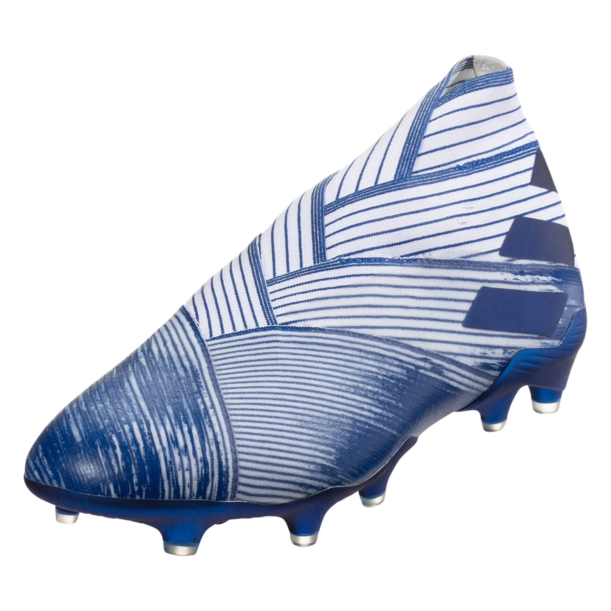 adidas Nemeziz 19+ FG Soccer Cleat - White / Royal Blue