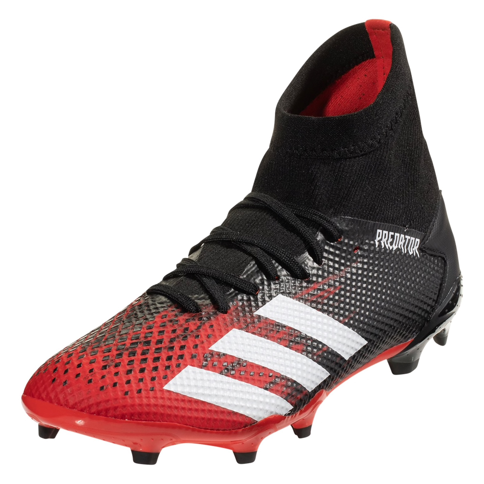 adidas Predator 20.3 FG Soccer Cleat - Red / White / Black