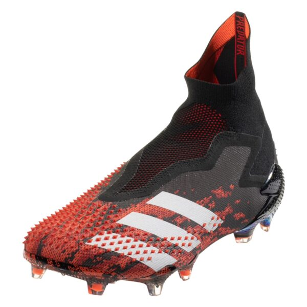 adidas Predator 20+ FG Firm Ground Soccer Cleat - Black / White / Red