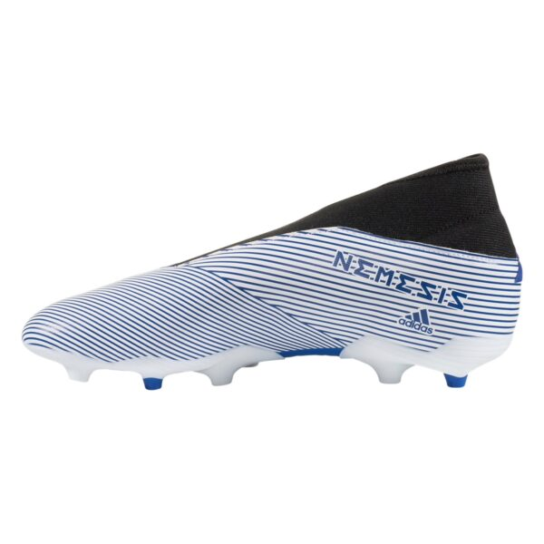 adidas Nemeziz 19.3 Laceless FG Junior Soccer Cleats - White / Royal Blue