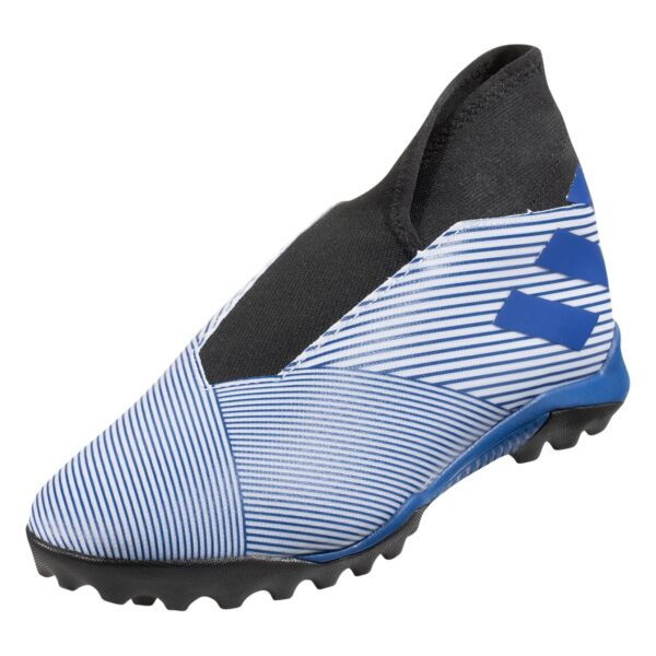 adidas Nemeziz 19.3 TF Artificial Turf Soccer Shoes - White / Royal Blue