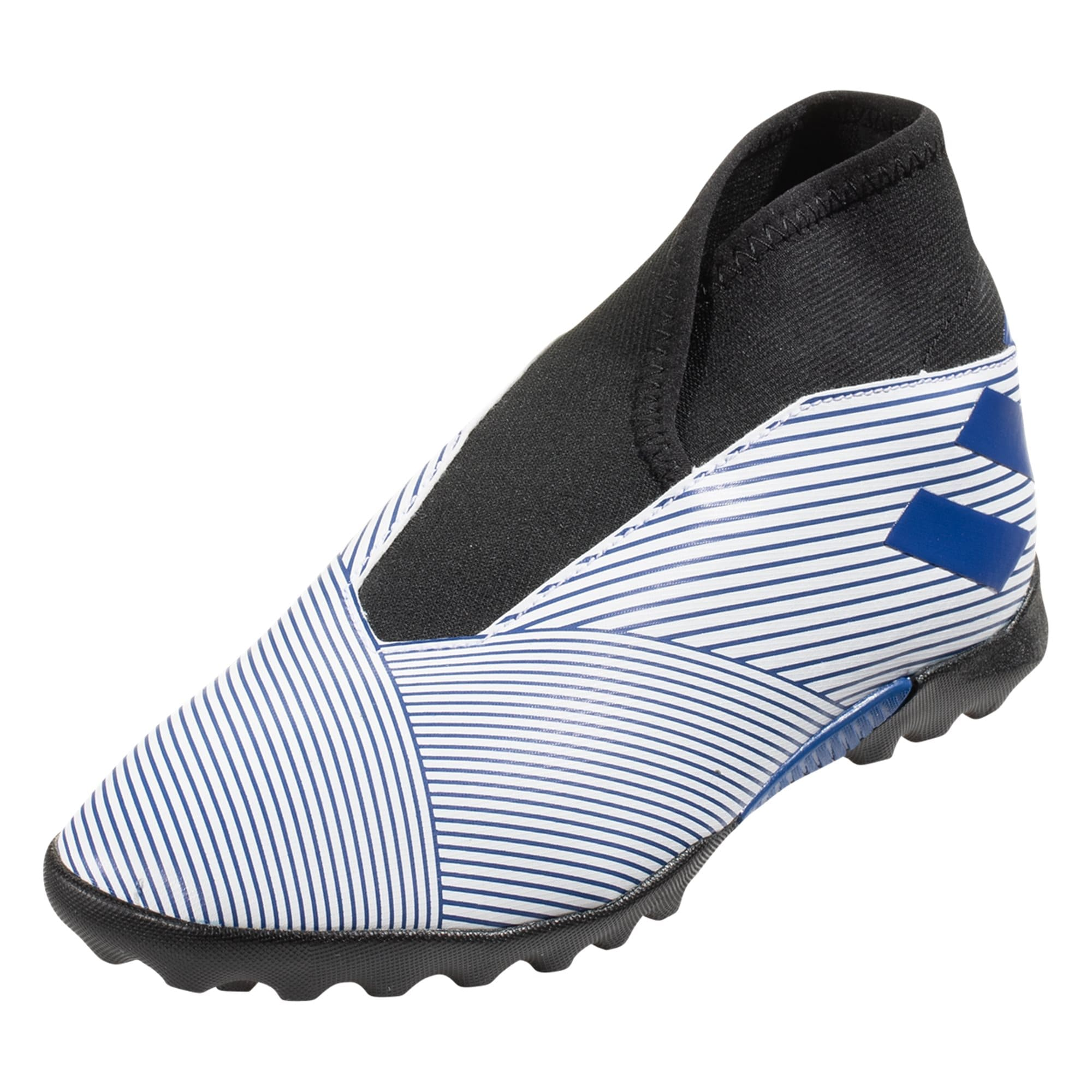 adidas Nemeziz 19.3 Junior TF Artificial Turf Soccer Shoes - White / Royal Blue