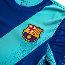 Barcelona Training T-Shirt Pre Match Europe - Turquoise/Deep Royal Blue